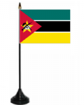 Mozambique Desk / Table Flag with plastic stand and base.